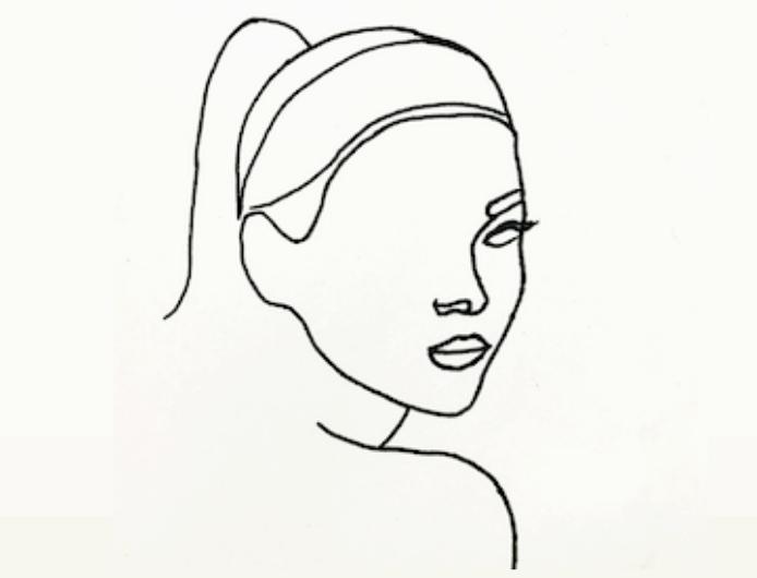 Zeichnung weibliches Gesicht