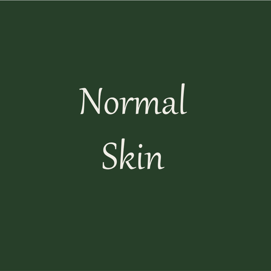 Picture with the word: Normal skin