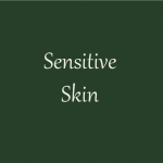 Picture with the word: Sensitive skin